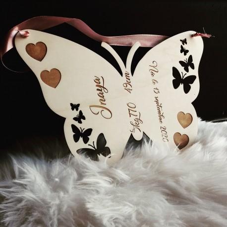 Décoration papillon bois