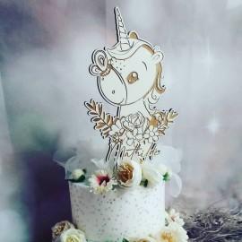 Cake topper licorne