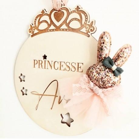 Décoration princesse avec son lapin