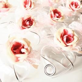 Dragées mariage rose cœur
