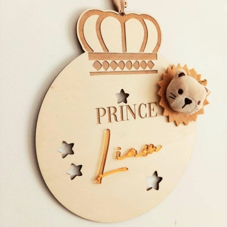 Pancarte prince avec son lion