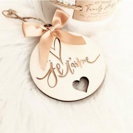Boule de Noël declaration d'amour