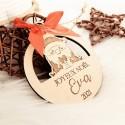 Boule de Noël père Noël bois