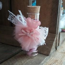 Dragées ourson éprouvette rose parme