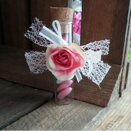 Éprouvette dragées mariage rose