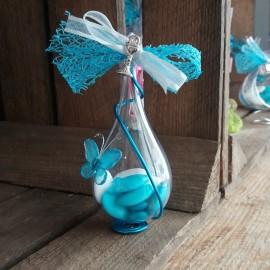 Dragées papillon communion goutte bleu