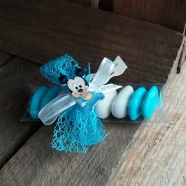 Contenant dragées mickey bleu