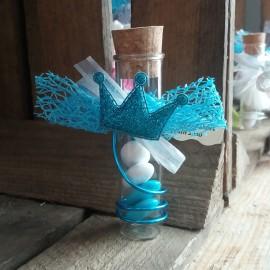 Dragées prince éprouvette bleu