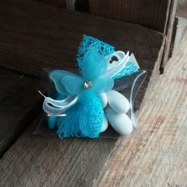 Boite à dragées papillon bleu