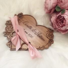 Porte alliance mariage bois personnalisé